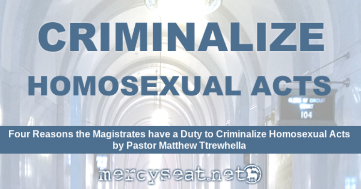 Four Reasons for Criminalization - Homosexers and the Law